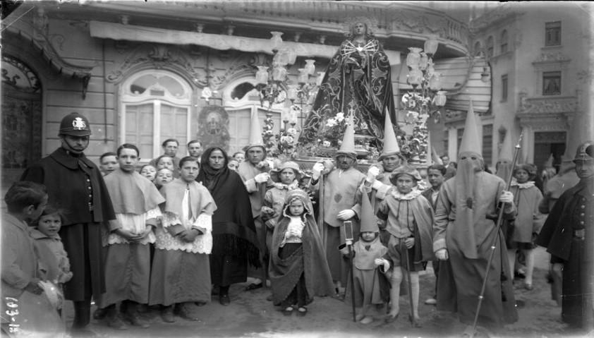Albacete. Virgen de los Dolores. Gram hotel. 1931